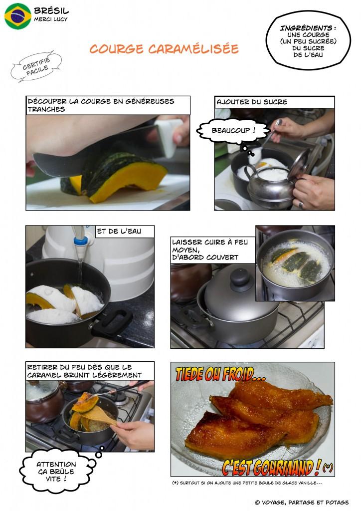 Recette - Brésil - Courge caramélisée