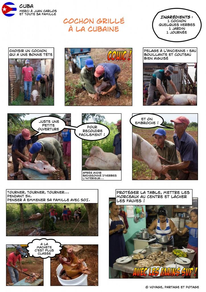 Recette - Cuba - Cochon grillé à la cubaine