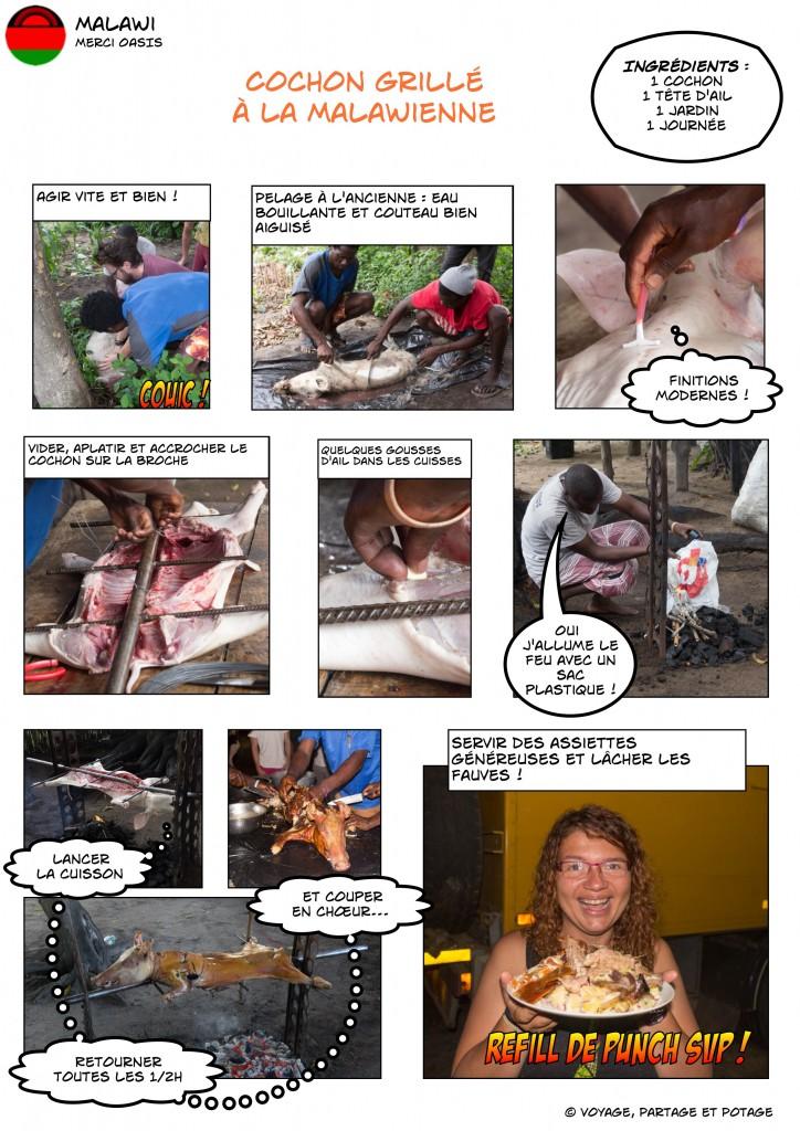 Recette - Malawi - Cochon grillé à la malawienne